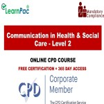 Communication in Health & Social Care - Level 2 - Mandatory Training Group UK -