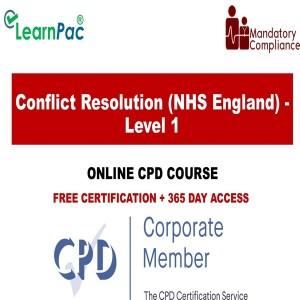 Conflict Resolution (NHS England) - Level 1 - Mandatory Training Group UK -