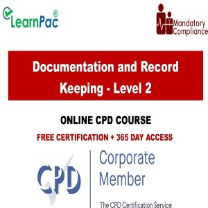 Documentation and Record Keeping - Level 2 - Mandatory Training Group UK -