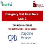 Emergency First Aid at Work - Level 2 - Mandatory Training Group UK -