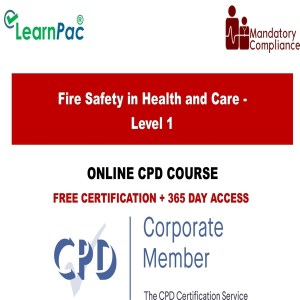 Fire Safety in Health and Care - Level 1 - Mandatory Training Group UK -