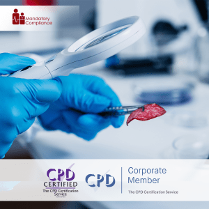 Food Safety in Health and Care - Online Training Course - CPD Accredited - Mandatory Compliance UK -