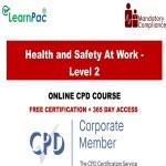 Health and Safety At Work - Level 2 - Mandatory Training Group UK -