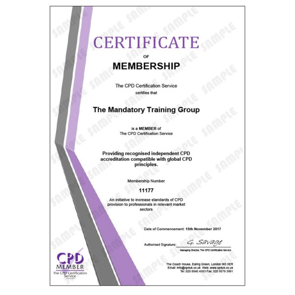 Health and Safety at Work – Level 2 – E-Learning Course – CDPUK Accredited – Mandatory Compliance UK –