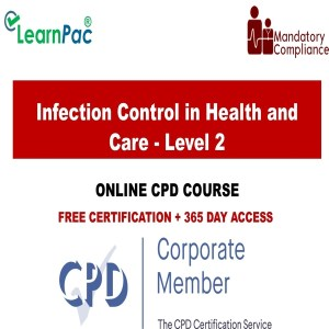 Infection Control in Health and Care - Level 2 - Mandatory Training Group UK -