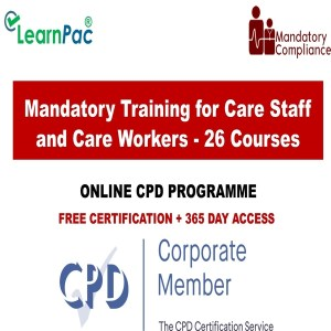 Mandatory Training for Care Staff and Care Workers - 26 Courses - Mandatory Training Group UK -