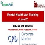 Mental Health Act Training - Level 2 - Mandatory Training Group UK -