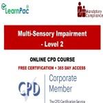 Multi-Sensory Impairment - Level 2 - Mandatory Training Group UK -