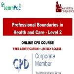 Professional Boundaries in Health and Care - Level 2 - Mandatory Training Group UK -