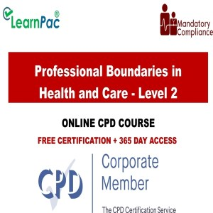 Professional Boundaries in Health and Care - Level 2 - Mandatory Training Group UK -