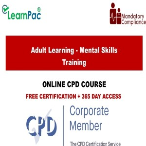 Adult Learning - Mental Skills Training – CPD Accredited - Mandatory Training Group UK -