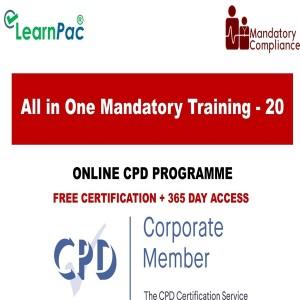 All in One Mandatory Training - 20 Online Courses - Mandatory Training Group UK -