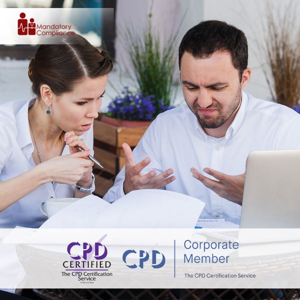 Anger Management – Online Training Course – CPDUK Accredited – Mandatory Compliance UK –