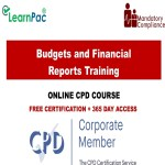 Budgets and Financial Reports Training – Mandatory Training Group UK –