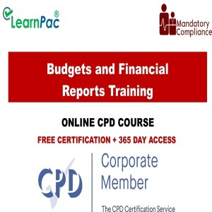 Budgets and Financial Reports Training - Mandatory Training Group UK -