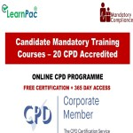 Candidate Mandatory Training Courses – 20 CPD Accredited Courses – Mandatory Training Group UK –