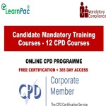 Candidate Mandatory Training Courses – 12 CPD Accredited Courses – Mandatory Training Group UK –
