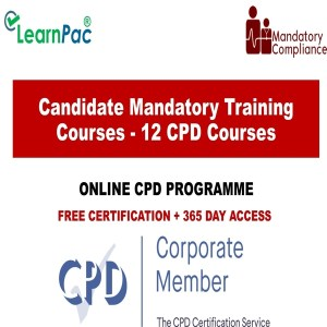 Candidate Mandatory Training Courses - 12 CPD Accredited Courses - Mandatory Training Group UK -