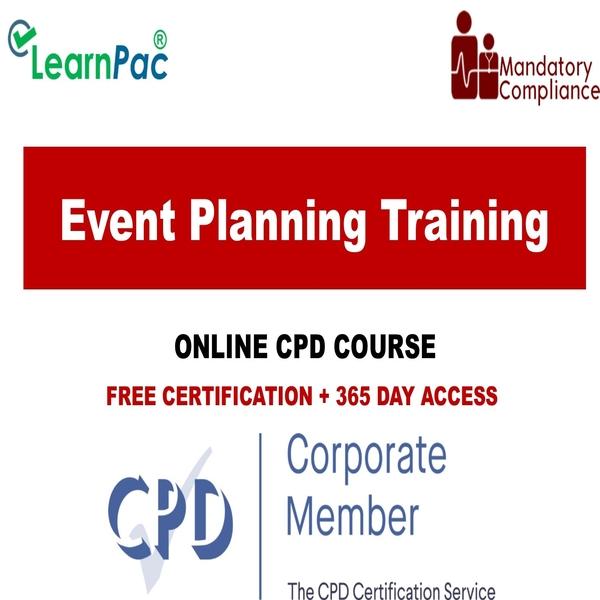 Event Planning Training – Mandatory Training Group UK –