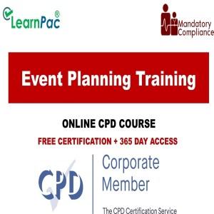 Event Planning Training - Mandatory Training Group UK -
