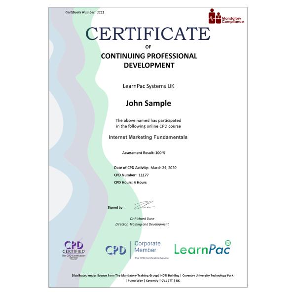 Internet Marketing Fundamentals – eLearning Course – CPD Certified – Mandatory Compliance UK –