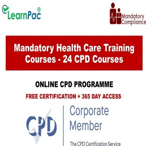 Mandatory Health Care Training Courses - 24 CPD Accredited Courses - Mandatory Training Group UK -