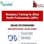 Mandatory Training for Allied Health Professionals (AHPs) - Mandatory Training Group UK -