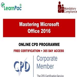 Mastering Microsoft Office 2016 - Mandatory Training Group UK -