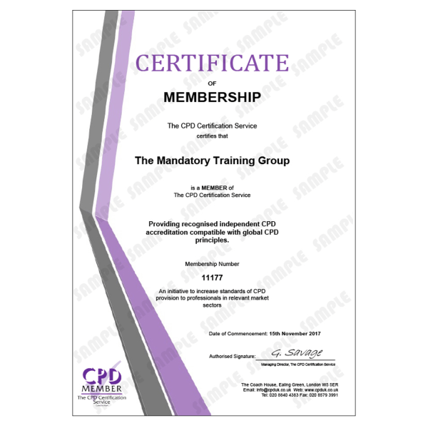 Online Non-Clinical Mandatory Training and Statutory Training – E-Learning Course – CDPUK Accredited – Mandatory Compliance UK –