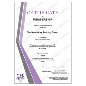 Online Non-Clinical Mandatory Training and Statutory Training - E-Learning Course - CDPUK Accredited - Mandatory Compliance UK -
