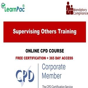 Supervising Others Training - Mandatory Training Group UK -