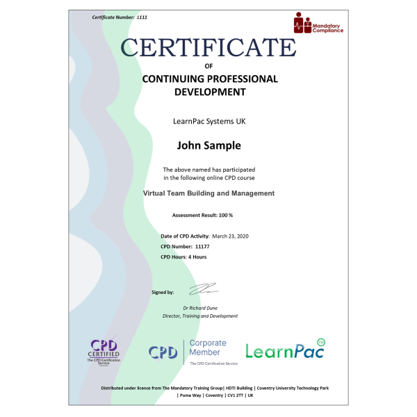 Virtual Team Building and Management – eLearning Course – CPD Certified – Mandatory Compliance UK –