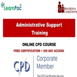 Admistrative support training – Mandatory Training Group UK –