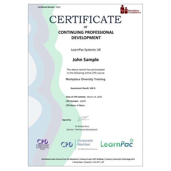 Workplace Diversity Training – eLearning Course – CPD Certified – Mandatory Compliance UK –