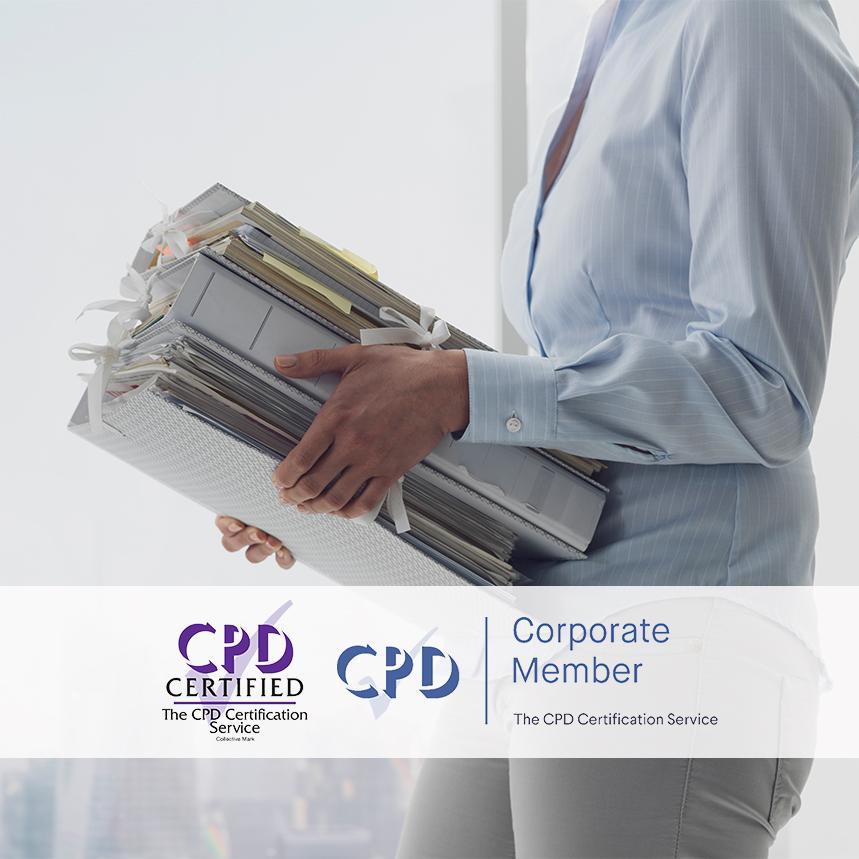 Documentation and Record Keeping - Online Training Courses - Mandatory Compliance UK -