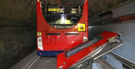 Double-decker's roof torn off after hitting bridge, leaving children 'seriously' injured - The Mandatory Training Group UK -