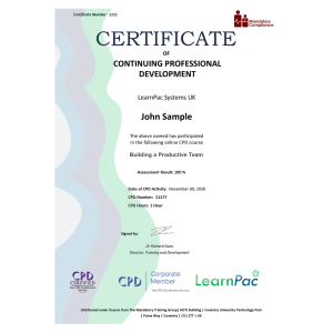 Building a Productive Team - eLearning Course - CPD Certified - Mandatory-Compliance UK -
