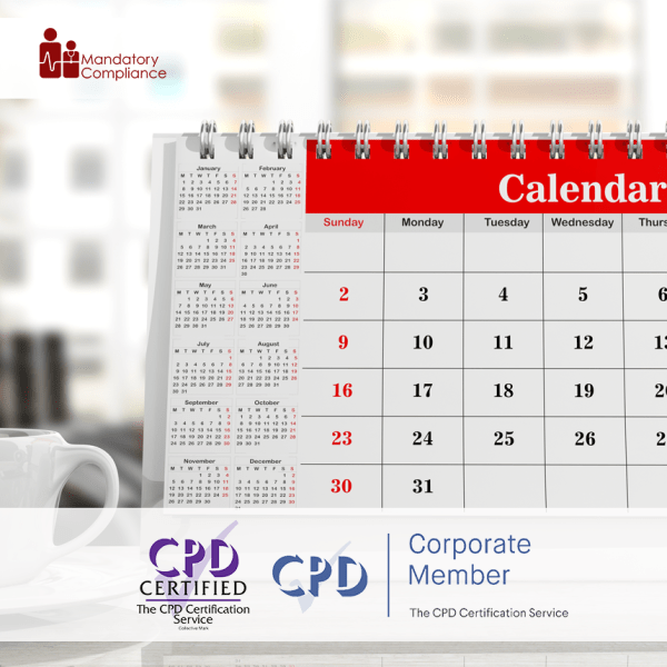 Sharing Calendars – Online Training Course – CPD Accredited – Mandatory Compliance UK –