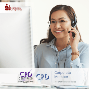 Call Centre - Online Training Course - CPDUK Accredited - Mandatory Compliance UK -
