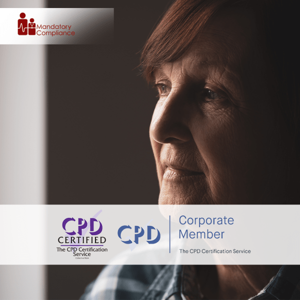 Dementia Awareness – Level 2 – Online Training Course – CPD Accredited – Mandatory Compliance UK –
