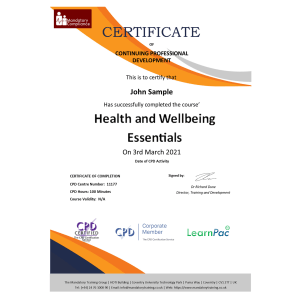 Health and Wellbeing Essentials -eLearning-Course-CPD-Certified-Mandatory-Compliance-UK-1-1