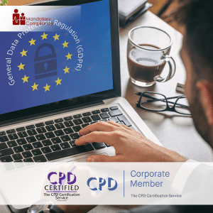 Online GDPR Training - Online Training Course - CPD Accredited - Mandatory Compliance UK -