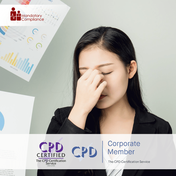 Stress Management at Work – Online Training Course – CPD Accredited -Mandatory Compliance –