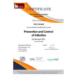 Prevention and Control of Infection - eLearning Course - CPD Certified - Mandatory Compliance UK -