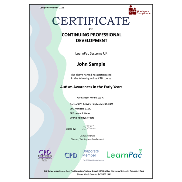 Autism Awareness – eLearning Course – CPD Certified – Mandatory Compliance UK –