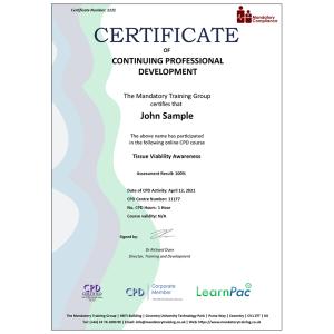 Tissue Viability Awareness - E-Learning Course - Mandatory Compliance UK -