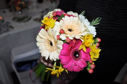 Bridesmaid's Hand-tied flowers