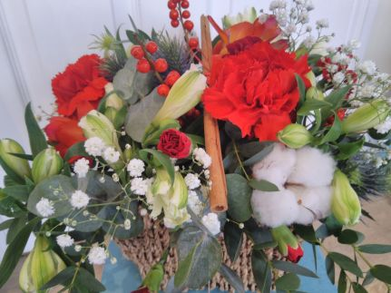 Christmas Flower Basket