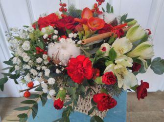 Christmas Flower Basket
