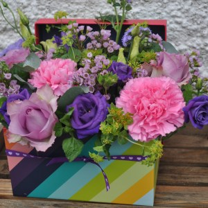 Stripe flower box